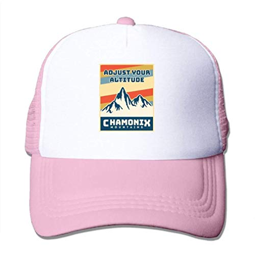 Nifdhkw Mens/Womens Chamonix Mountains Casual Mesh Hat Hat Yellow Pink cap Fashion272