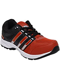 CF_Better Deals Mens Synthetic Mesh Black Red Coloured Sports Shoe| Running Shoes| Pro Running Shoes| Sprint Running...