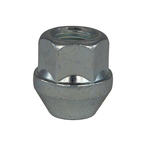 EvoCorse Écrou de roue ouvert M12x1.5, Clé 19, Longueur 25 mm, Blanc galvanisé, 4 pcs
