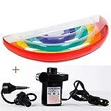 GYFY Sette Colori Arcobaleno Floating Row Semi-Circolare Arcobaleno Adulto Nuoto Anello Forniture d'Acqua Gonfiabile Super Equitazione reclinabile (Inviare Pompa dell'Aria Auto)