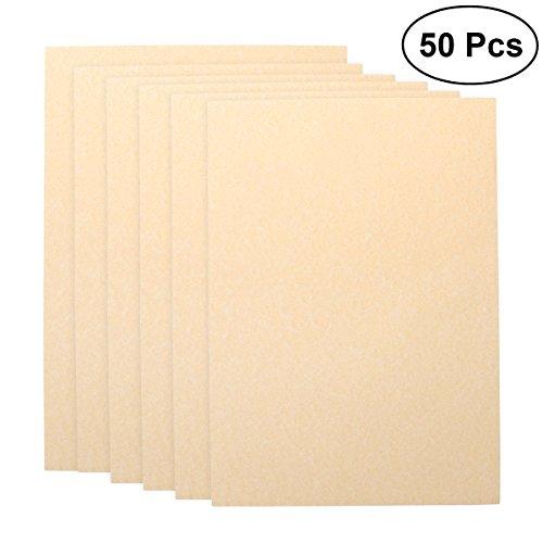 NUOLUX vintage carta,fogli di carta A4 Carta di scrittura Kraft Set Vintage, 50 pezzi