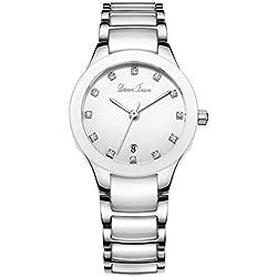 Fashion waterproof watch/Lady ceramic watch/Simple quartz watch-B