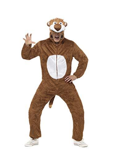 Löwe Kostüm enthält Jumpsuit mit Kapuze, Large
