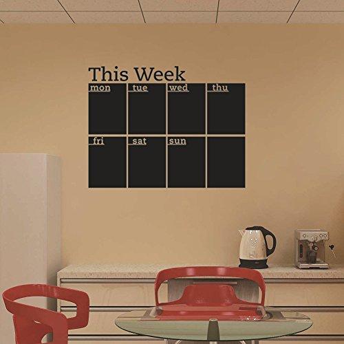 """Wandaufkleber Tafel-Kalender, Wochenkalender, Memo-Board, Deko: """"This Week"""""""