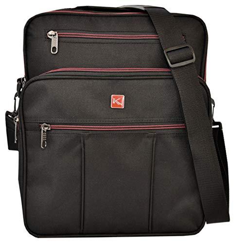e41caa133cf5b KEANU Flugbegleiter Umhängetasche    2 DIN A4 Fächer 2 Vordertaschen     Arbeitstasche Herrentasche im