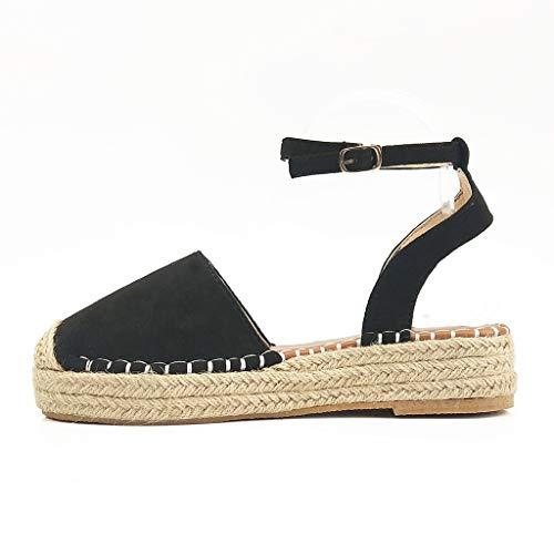 cc70d66aff Sandalias Mujer Verano 2019 Plataforma - Logobeing Sandalias Mujer Cuña  Zapatos De Tacón Alto Alpargatas De