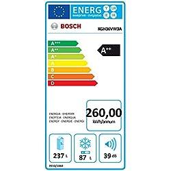 Bosch Serie 4 KGN36VW3A Autonome 324L A++ Blanc réfrigérateur-congélateur - Réfrigérateurs-congélateurs (324 L, SN-T, 14 kg/24h, A++, Nouvelle zone compartiment, Blanc)