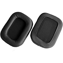 Coussinets cuir réparation pièces pour Mad Catz Tritton AX720 Tritton 720 + Hache de jeu stéréo Surround 7.1 Pro PS4 casque Tritton Kaiken Headphones (Earmuffes/coussin) (1 paire)