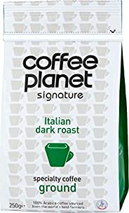 Coffee Planet Signature Italian Dark Roast Ground Coffee Bag 250 g