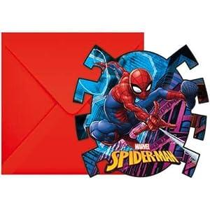 PROCOS Invitaciones con sobre Spiderman Team Up,, 5pr89453