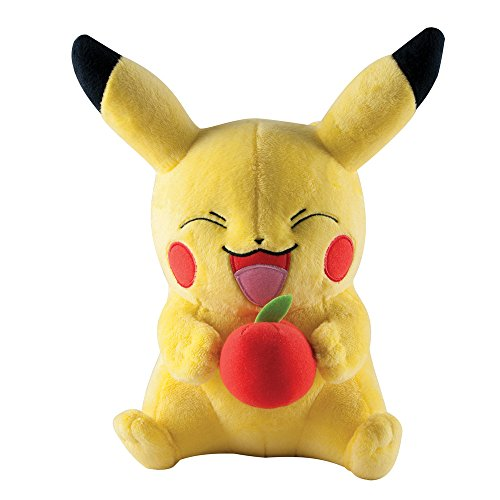 Pokemon 10-Inch Pikachu with Apple Plush Toy (Large)