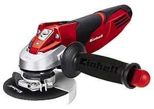 Einhell 4430850 TE-AG 115 Smerigliatrice Angolare, 720 W, Nero/Rosso/Argento