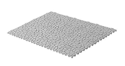 UPP Outdoor Gartenplatten Klickfliesen 30 x 30 cm | Wetterfester Bodenbelag für Balkon, Garten & Terrasse | Einfach & Schnell verlegt [6 Teile, Stein] -