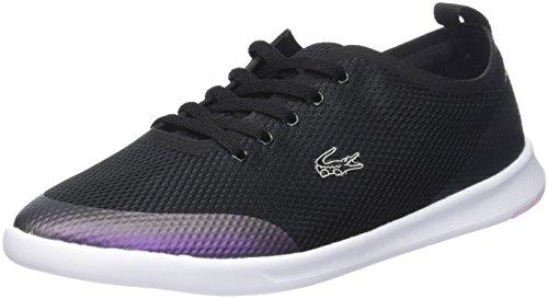 Lacoste Damen Avenir 118 1 SPW Sneaker, Schwarz (Blk/Lt Violet Purp), 39.5 EU