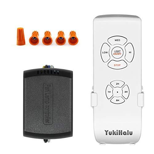 YUKIHALU - Mando a distancia universal para ventilador de techo, tamaño pequeño,...