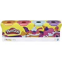 Play-Doh-Pack 4 Colores Dulces, (Hasbro E4869ES0)