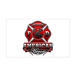 CafePress - American Heroes Rectangle Sticker - Rectangle Bumper Sticker Car Decal