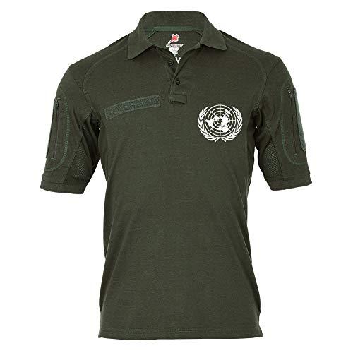 Copytec Tactical Poloshirt Alfa - UN United Nations Vereinte Nationen Staaten #19327, Größe:3XL (XXXL), Farbe:Oliv