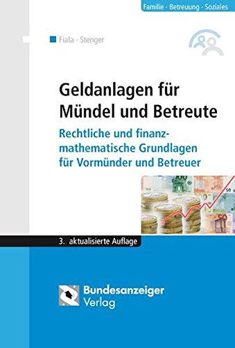 Cover »Geldanlagen für Mündel und Betreute«