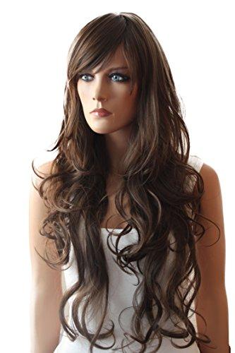 PRETTYSHOP Mode perruque les cheveux longs, ondulés, volumineux, résistant à la chaleur Brun mix # 4/30 FS831