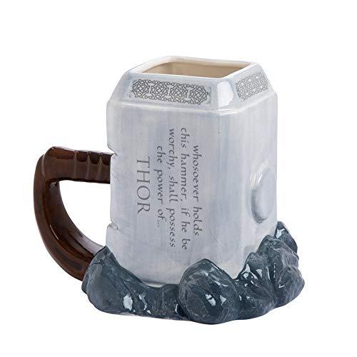 CCMOO 600 ML 3D kaffeetassen Hammer Stil Marvel skulptiert Becher Tee tassen kreative große kapazität Mark drinkware-1