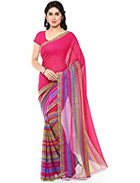 Anand Sarees Georgette Saree with Blouse Piece (1164_3_Multicoloured_Free size)