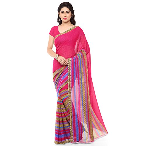 Anand Sarees Georgette Saree with Blouse Piece (1164_3_multicolour_Free size)