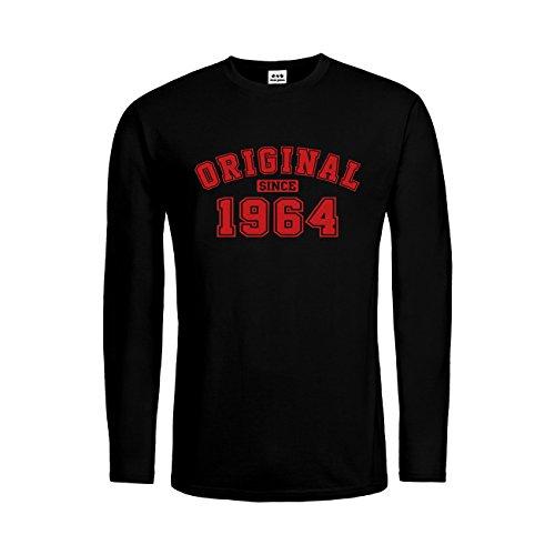 dress-puntos Herren Langarm T-Shirt Original Since 1964 20drpt15-mtls01261-18 -