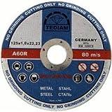 Premium Pack von 10x Ultra Thin (12,7cm) 125mm x 1mm Winkelschleifer Circular saw- Edelstahl Stecklinge Dics–Metall schneiden Schlitzung Scheiben
