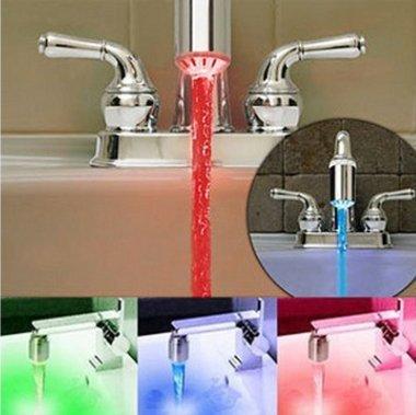CC * CD Fashion Light 3color temperatura controllata sensore ABS materiale rubinetto