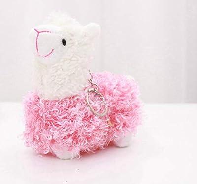 WYBL Bonita Oveja Alpaca Juguetes De Felpa Kawaii Bolsa Mochila Colgante Llavero Relleno Animales Niños Juguetes para Niños Cumpleaños Regalo 12Cm Rosa de WYBL