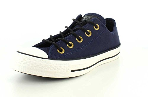 Converse Chuck Taylor Core Lea Ox 246270-55-3, Sneaker Donna Obsidian Egret Black