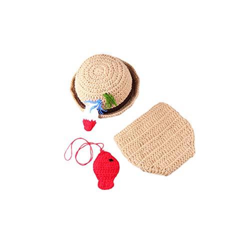 (W&P wp Neugeborene Fotografie Kostüm Baby-handgewebte Fischer-Styling-Set)
