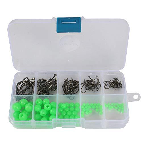NiceButy 180Pcs / BoxBox Angeln Perlen weichen Kunststoff Leuchtkugelschwimmer Fischköder Perlen Perlen Angelausrüstung Köder Zubehör Outdoor-Sport-Produkte Rigging -