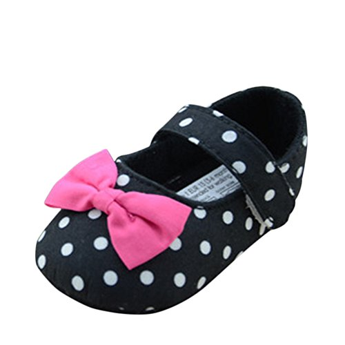 Allouli Infant Toddler Baby Polka Dot Walking Mary Jane Velcro Shoes S (Velcro Casual Navy Schuh)