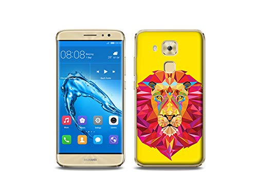 etuo Huawei Nova Plus - Hülle, Silikon, Gummi Schutzhülle - Geometrischer Löwe