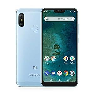 "Xiaomi Mi A2 Lite Smartphones 5.84"" Pantalla Full HD 3 GB RAM + 32 GB ROM Snapdragon 625 Octa Core Dual SIM MicroSD 5MP Frontal + 12MP 5MP Dual Cámara Trasera Móviles Teléfono (Azul)"