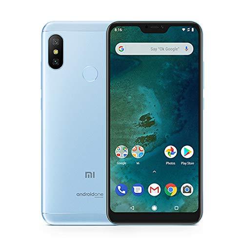 "Xiaomi Mi A2 Lite Smartphones 5.84"" Pantalla Full HD 4 GB RAM + 64 GB ROM Snapdragon 625 Octa Core Dual SIM MicroSD 5MP Frontal + 12MP 5MP Dual Cámara Trasera Móviles Teléfono (Azul)"