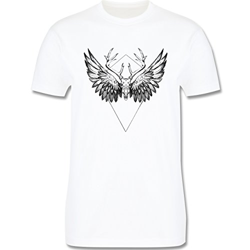 Rockabilly - Deer skull - Herren Premium T-Shirt Weiß