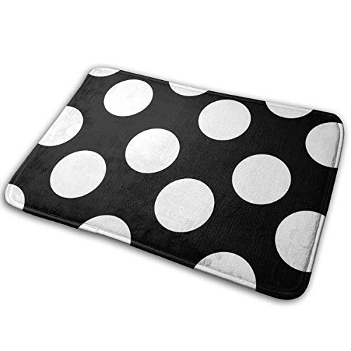 QuGujun Large Beach Towels Black White Striped Welcome Bath Mat Non Slip Absorbent Super Cozy Velvet Bathroom Rug Carpet Bath Rugs -
