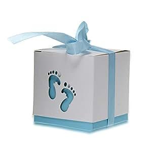 12 x Boîte Ballotin Coffret Box Ruban à Bonbons Cadeaux Dragées Mariage Baptême