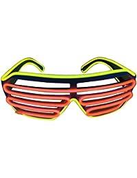 Gafas con iluminación LED, de dos colores, actuales, yellow+red