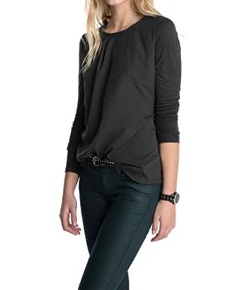 ESPRIT Collection Women's Long - regular Sweatshirt  - Black - Schwarz (001 BLACK) - 8