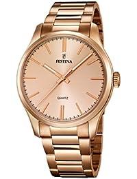Festina Damen-Armbanduhr XL Analog Quarz Edelstahl beschichtet F16809/1