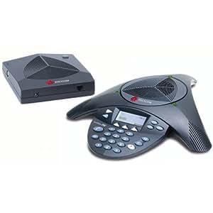 SoundStation 2WEX/EV Terminal d'audioconférence sans fil dect , jusqu'à 8 participants (évolutif jusqu'à 15)