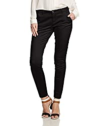 Only Womens Skinny Pants (15097172_ Black_ 34W x 32L)