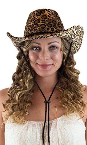 CAPTAIN FLOATY Damen Cowboyhut - Filz Western Cowboys Hats für Herren Damen und Mädchen (Leopardenmuster), Damen, Leopardenmuster, Normal