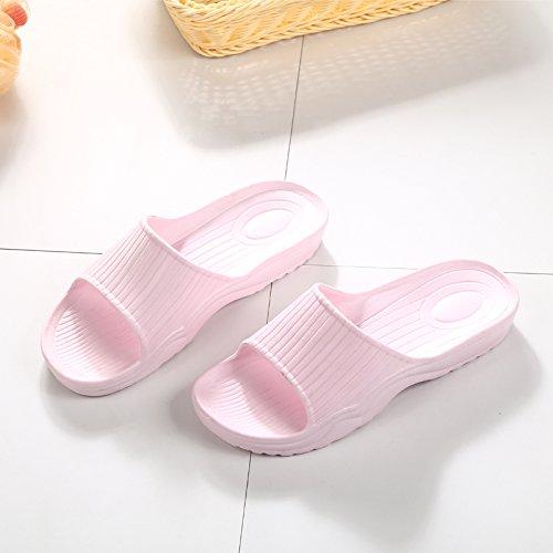 Coppie fankou pantofole di cotone di donne 's casalinghi in inverno Cute cat testa slittamento libero Cartoon pantofole 6703 Blau (männlich)