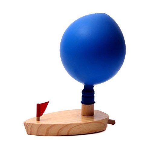 Cido Kinder Bad Ballon angetrieben Boot Holzgeschenke Klassik Lustige schwimmende leichte pädagogische Schwimmspielzeug