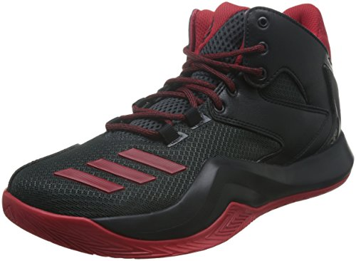 adidas D Rose 773 V, Scarpe da Basket Uomo Multicolore (Cblack/Scarle/Dkgrey)